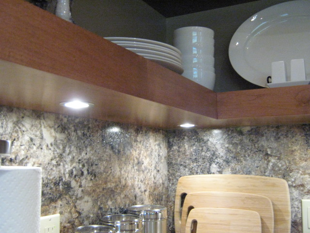 under-shelf and under-cabinet lighting